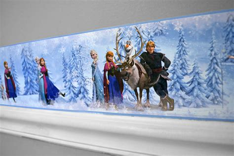 Ideas For Painting Girls Bedroom create a frozen fantasyland with our disney frozen border