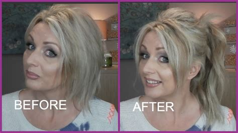 short hair extensions for thinning hair high ponytail with extensions on short fine hair