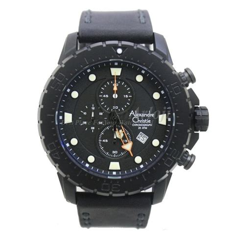 Jam Tangan Pria Christie Ac 6473 Black Grey jam tangan original alexandre christie ac 6412mc collection