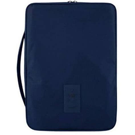 Kaos Pocket Navy Blue tas travel kemeja pouch organizer baju praktis anti kusut