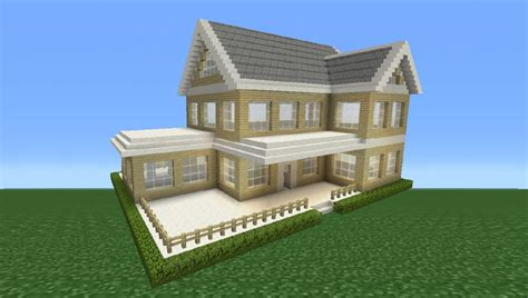 minecraft tutorial how to make a suburban house 2