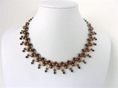 Necklace Pattern Pinterest | veronica necklace free pattern from beaddiagrams page 1