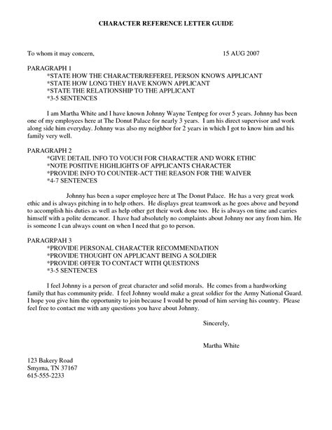 example of good character reference letter abcom