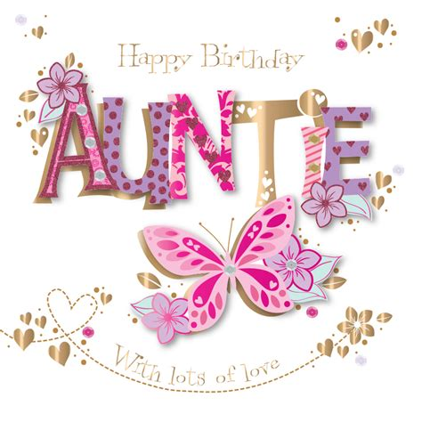 happy birthday auntie images auntie birthday handmade embellished greeting card cards