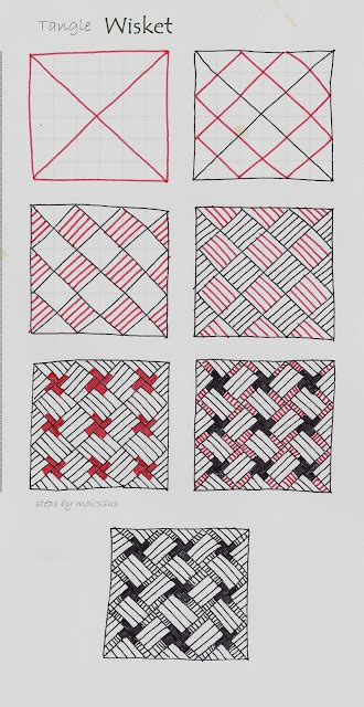 Zentangle Pattern Dictionary | my tangle pattern quot wisket quot