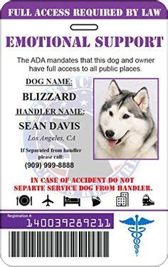 emotional support animal id card template gooddogautismcompanions the difference