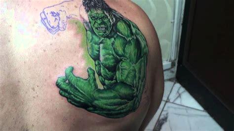 hulk tattoo by coşkun şakre youtube