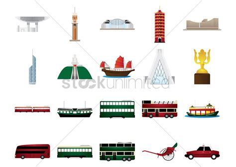 electric boat icon hong kong icons set vector image 1601746 stockunlimited