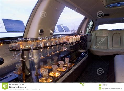 Interior Leather Bar Free by Limousine Interior Stock Photography Image 1632422