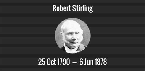 robert stirling death anniversary