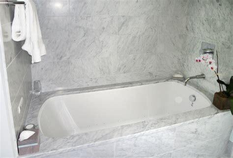 Marble Tub Surround   Traditional   Bathroom   Charleston