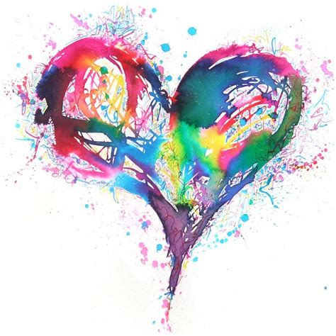 design art love 23 best watercolor hearts images on pinterest