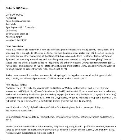 pediatric soap note template soap note template 10 free word pdf documents free premium templates
