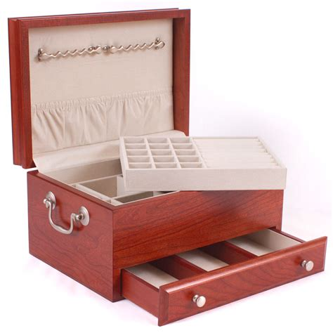 jewelry organizer box with drawer in jewelry boxes and