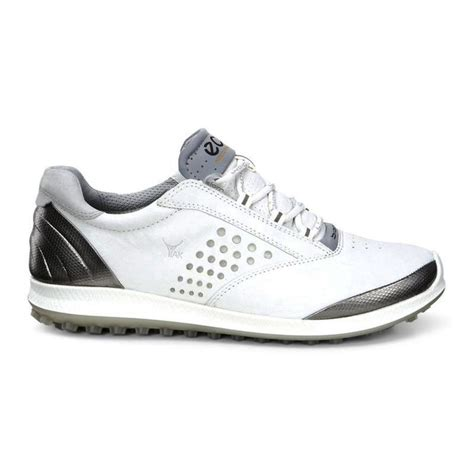 ecco biom hybrid 2 golf shoes white silver on