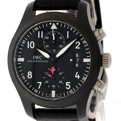 Iwc Top Gun Chrono On Semua Black List iwc pilots chronograph top gun 46mm