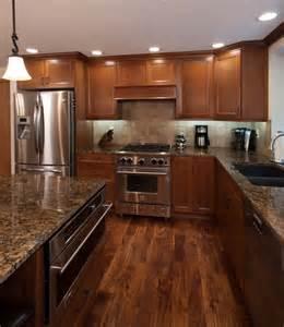 Light Floors Dark Cabinets Rose Kitchen Cabinets Littlerock Wa Cabinets By Trivonna