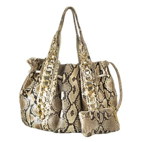 Michael Kors Id Chain Python Shoulder Bag by Michael Kors Python Id Chain Tote