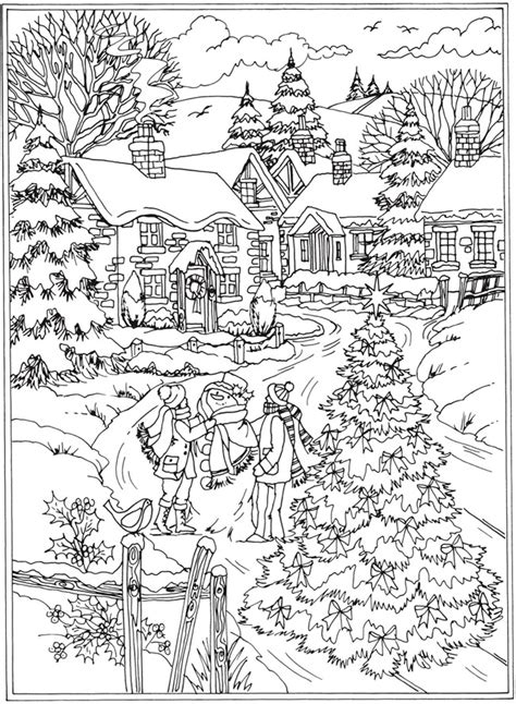 welcome to dover publications from creative haven winter wonderland coloring book christmas