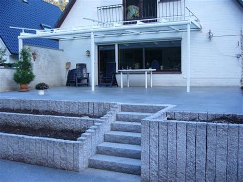 terrasse mit stufen t schulz galabau