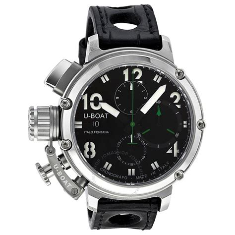 u boat copy watches u boat chimera chronograph automatic stainless steel black