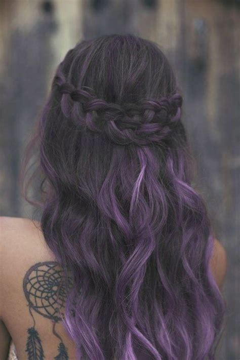 cheveux prune couleur pictures to pin on pinterest les 25 meilleures id 233 es de la cat 233 gorie m 232 ches violettes