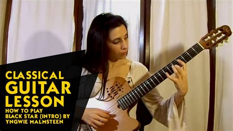 Musik Guitar Lesson Yngwie J Malmsteen classical guitar lesson how to play black intro