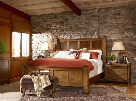 diy rustic bedroom wall cabin decorating ideas design