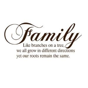 family like branches on a tree we all grow