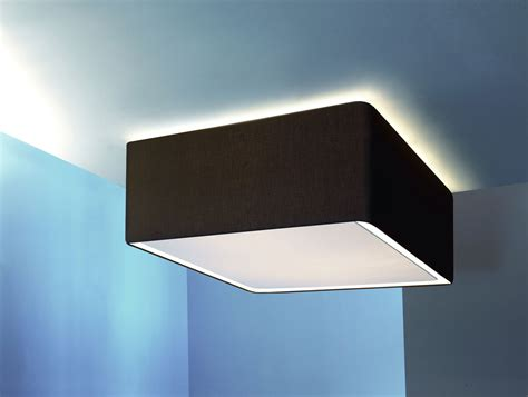 circus square italian designer ceiling light in black