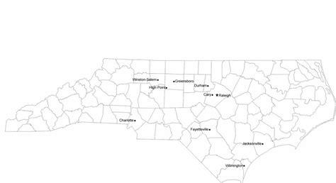 carolina map with cities carolina cities map with city names free