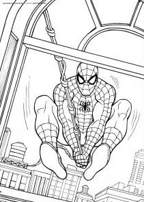 spiderman coloring pages kids images