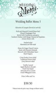 wedding menus buffet wedding menu for buffet