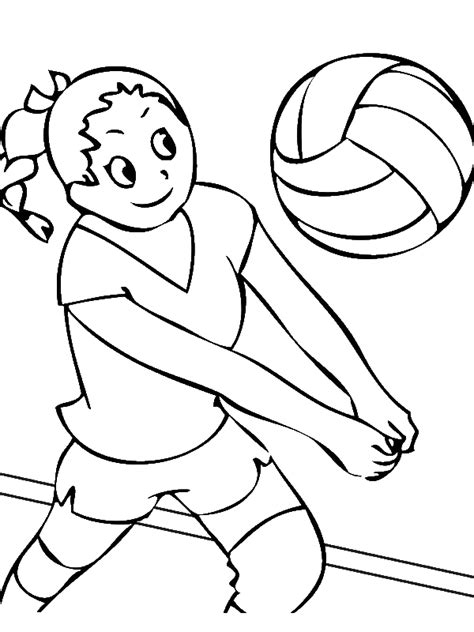 girls volleyball team coloring page  print