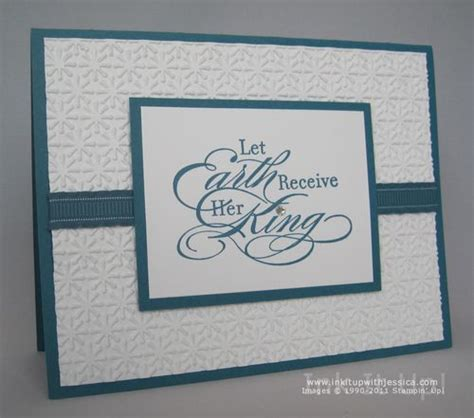 how to make embossed cards embossed card ink it up with