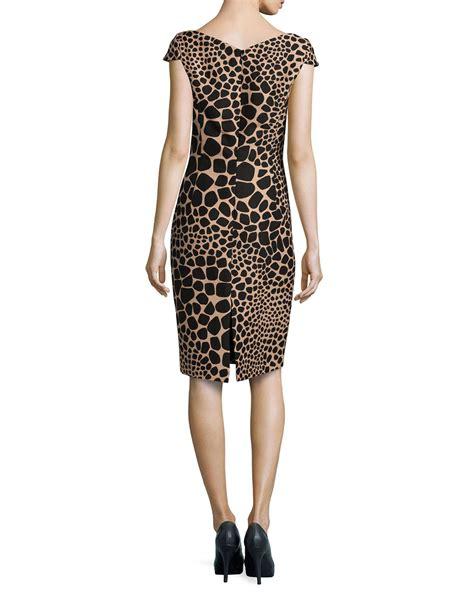 Dress Giraffe lyst michael kors giraffe print origami dress in black