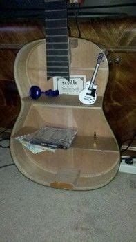 acoustic guitar shelf  shelf decorating  woodwork  cut