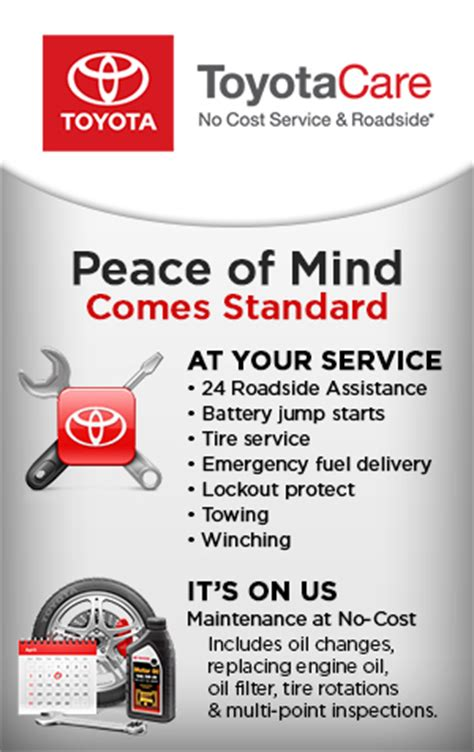 Toyota Care Maintenance Toyotacare No Cost Toyota Maintenance Information In