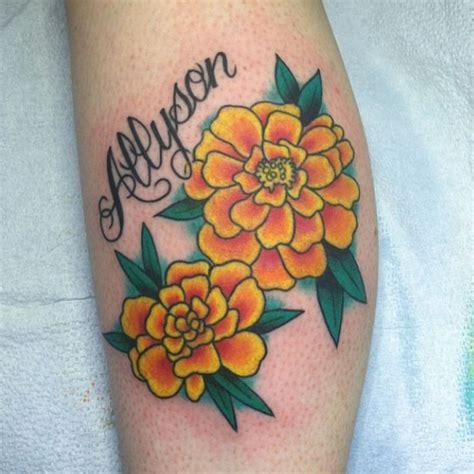 marigold tattoo 17 best ideas about marigold on birth