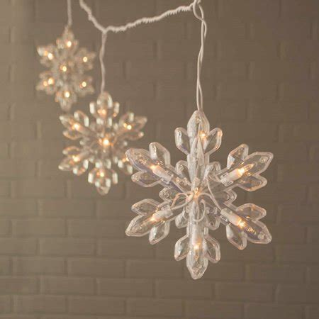 snowflake string of lights outdoor string lights snowflake string lights indoor