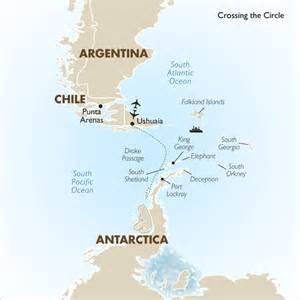 south america and antarctica map cruising antarctica crossing the circle sea adventurer