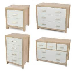 bianco white light oak effect modern bedroom furniture