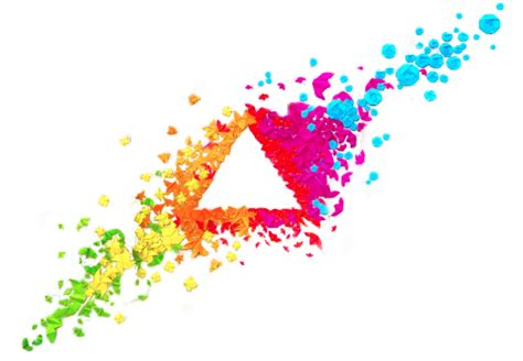 design art png origami triangle art stock png by primadonnagirly on