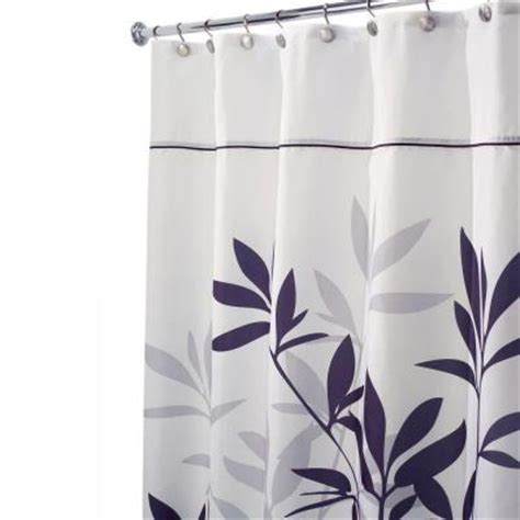 stall shower curtain interdesign leaves stall size shower curtain in black and