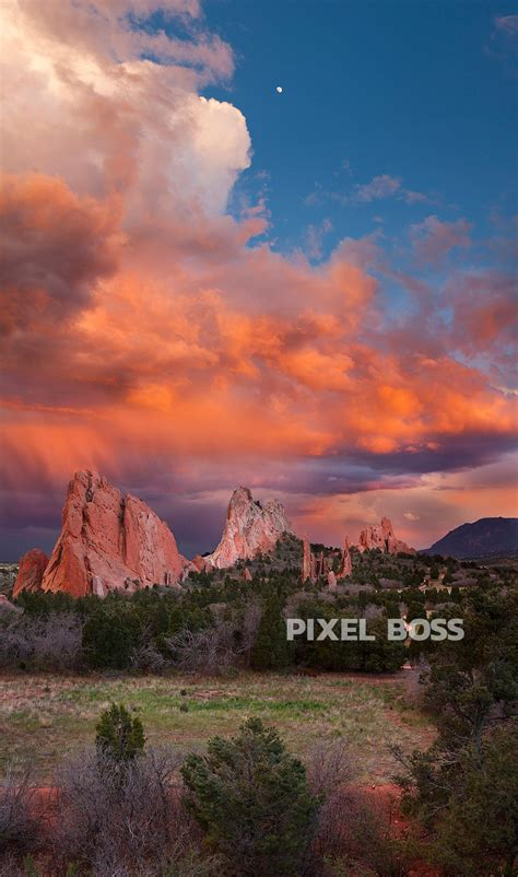 Rustic Wall Murals garden of the gods scarlet storm vertical pixel boss