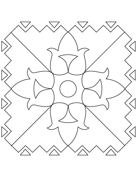 easy rangoli coloring pages simple rangoli coloring page download free simple