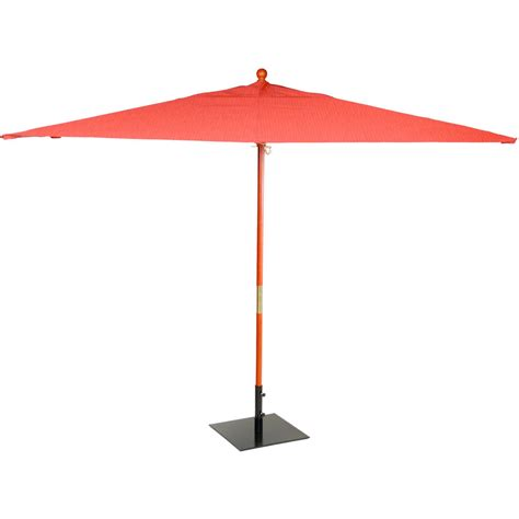 patio market umbrellas oxford garden 10 ft rectangular wood patio market
