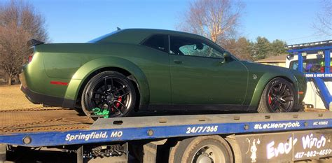 widebody hellcat green f8 green widebody finally made it home dodge challenger
