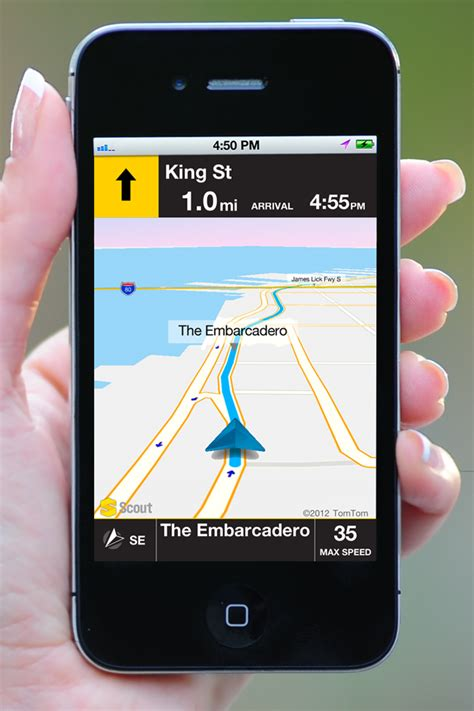 telenavs scout app  iphone  offline gps navigation