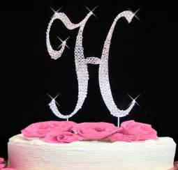 initial h cake topper letter h fully covered in